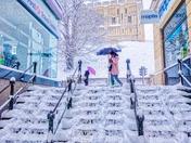 Snowy Day In Norwich, U.K. February 2018