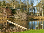 HOLKHAM LAKE ON A SUNNY WINTERS DAY