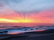 North denes sunrise 7.45am Friday 18th jan 2019