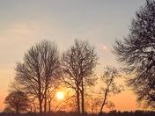 Sunset Playford Suffolk