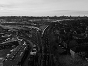 Norwich Train Station in B&W