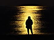 Caister moonlight silhouette