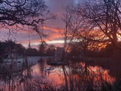 Sunrise over Langtons Gardens Hornchurch