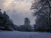 Ashcombe Park in the snow