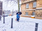 Snowy Day In Norwich, U.K