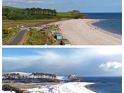 Budleigh Salterton winter and summer