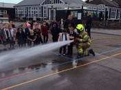 Hornchurch Fire Brigade visit Reception children at Benhurst Primary School