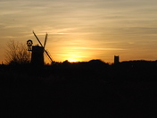 Sunset at Cley