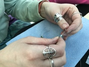 Making beads bracelet