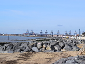 Cobbald point toward the docks