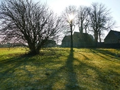 LOW SUN AND SHADOWS ON HEMPTON GREEN