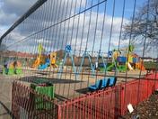 Valence Park playground refurbishment in progress