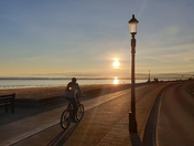 A glorious early evening along Exmouth seafront; spring is coming!