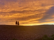 Sunset stroll at Budleigh