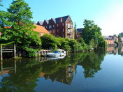 Beautiful reflections as shown on the River Wensum in Norwich.