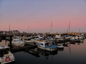 Lowestoft Harbour sunset