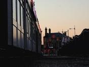 Lowestoft Harbour sunset
