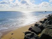 Sunny morning on Corton beach