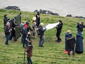 Filming at Sand Point