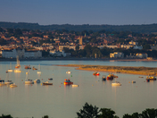 Exmouth viewed from across the river