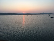 Sun setting over the Exe