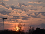 Sunset at Lowestoft on Monday