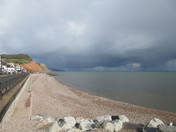Sidmouth beach, on a late April afternoon.
