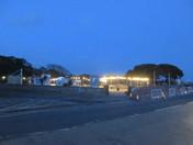 Queen's Drive Park after dusk