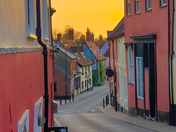 Sunrise in Bridge Street, Bungay