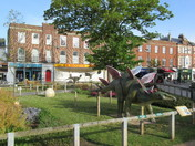 The 'dinosaurs are back' at the Exmouth Strand.