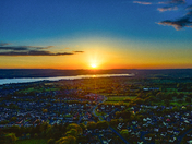 Bank Holiday Sunset Of Exmouth & the River Exe from above