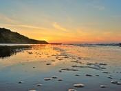 Mundesley Mill pond sunset + Mundesley Beach sunset
