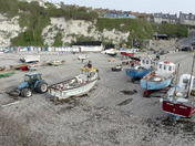capturing the fishing boats at Beer beach