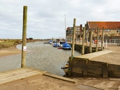 CLOUDY DAY AT BLAKENEY HARBOUR