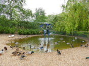 PRETTY FOUNTAIN AT PENSTHORPE NATURAL PARK