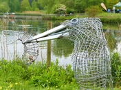 KINGFISHER SCULPTURE AT PENSTHORPE NATURAL PARK