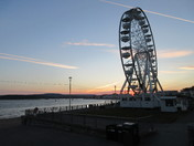 Exmouth Observation Wheel, as seen at dusk (21 May 2019)