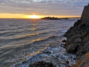 Birnbeck pier at sunset