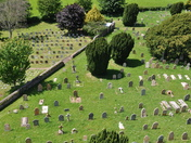 Unusual view of All Saints Churchyard, East Budleigh