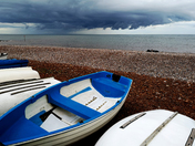 Dark clouds coming in over Sidmouth