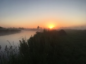 Sunrise on the river waveney