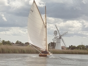 Yacht on The Broads
