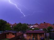 Ipswich sky's lit up last night