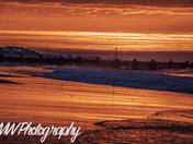 sunset at Walcott