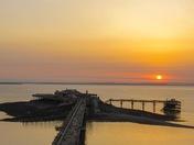 Sunset over Birnbeck pier