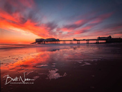 Sun rise at Cromer pier