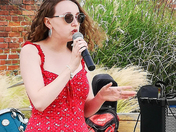 Musical Singer on street stage