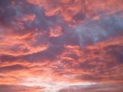 Sunset over Higher Woolbrook Park, Sidmouth