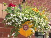 Exmouth fire helmet hanging basket