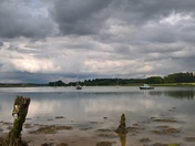 cloudy skies over kyson point